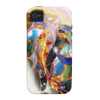 Art Glass Japanese Koi Fish Elegant Tough Cover Case-Mate iPhone 4 Case