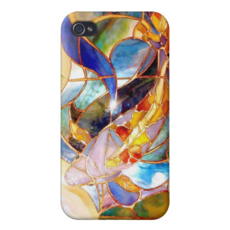Art Glass KOI Exent  Covers For iPhone 4
