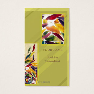 Art Glass Leaves Fashion Cool Business Card