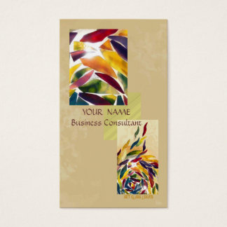 Art Glass Leaves Modern Excellent Business Card