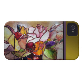 Art Glass Luxury Flower Barely There Case-Mate iPhone 4 Case