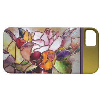 Art Glass Luxury Flower Barely There iPhone 5 Cover