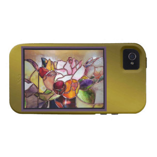 Art Glass Luxury Flower Tough Cover iPhone 4/4S Cover
