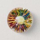 Art Glass Pearl Jewel Design Bride Button