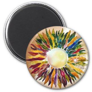 Art Glass Pearl Jewel Design Wedding Magnet