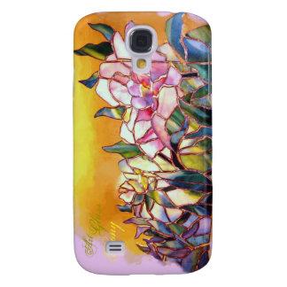 Art Glass Peony Natural  Galaxy S4 Case