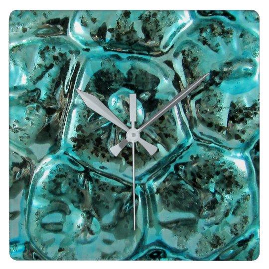 Art Glass Tiffany Teal Blue Jewel Turtle Shell