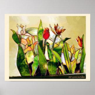 Art Glass Tulip Ground Wonder of Nature Poster