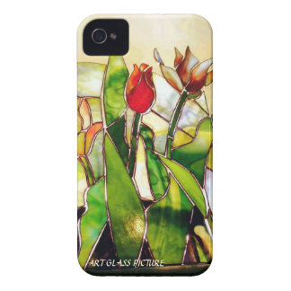 Art Glass Tulip Lovely Barely There Case-Mate iPhone 4 Cases