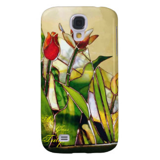 Art Glass Tulip Lovely  Galaxy S4 Covers
