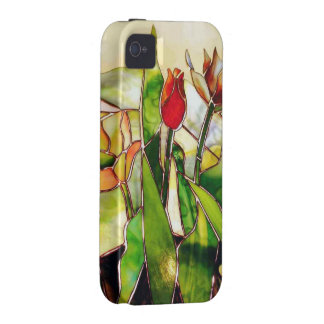 Art Glass Tulip Lovely Tough Cover Case-Mate iPhone 4 Covers