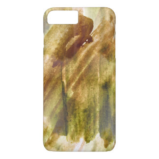 art green, brown hand paint background seamless iPhone 8 plus/7 plus case