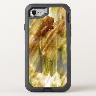 art green, brown hand paint background seamless OtterBox defender iPhone 8/7 case