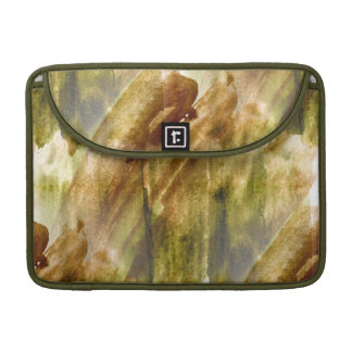 art green, brown hand paint background seamless sleeve for MacBooks