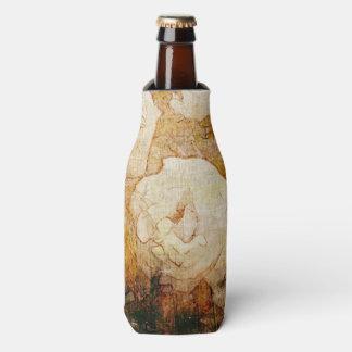 art grunge floral vintage background texture bottle cooler