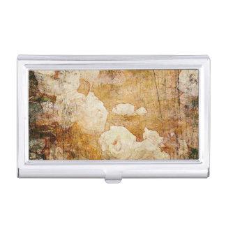 art grunge floral vintage background texture business card holder