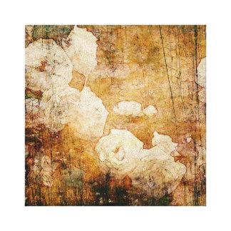 art grunge floral vintage background texture canvas print