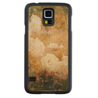 art grunge floral vintage background texture carved maple galaxy s5 case