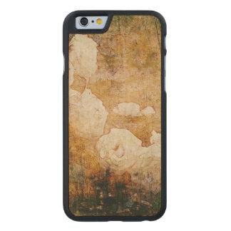 art grunge floral vintage background texture carved maple iPhone 6 case