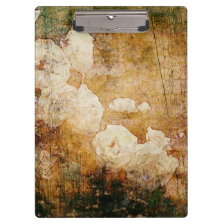 art grunge floral vintage background texture clipboard