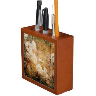art grunge floral vintage background texture desk organiser
