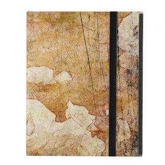 art grunge floral vintage background texture iPad folio case