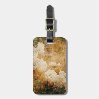 art grunge floral vintage background texture luggage tag