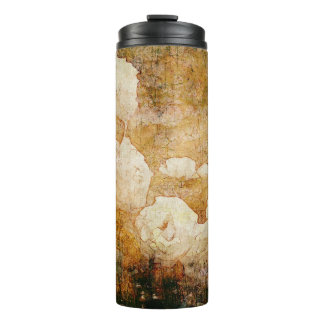 art grunge floral vintage background texture thermal tumbler