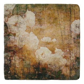 art grunge floral vintage background texture trivet