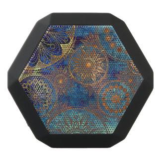 Art grunge pattern black bluetooth speaker