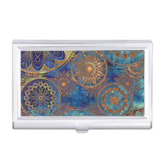Art grunge pattern business card holder