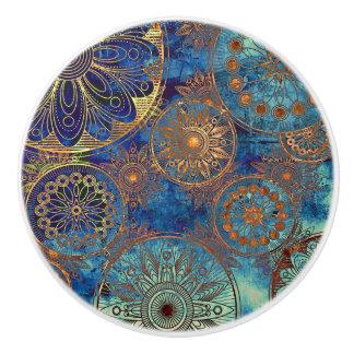 Art grunge pattern ceramic knob