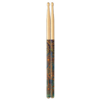Art grunge pattern drumsticks