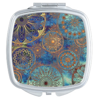 Art grunge pattern makeup mirror