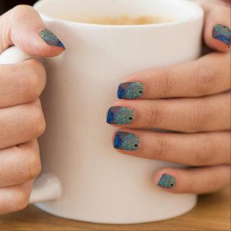 Art grunge pattern minx nail art