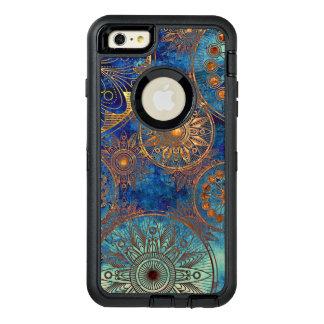 Art grunge pattern OtterBox defender iPhone case