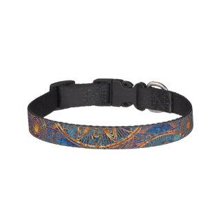 Art grunge pattern pet collar