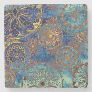 Art grunge pattern stone coaster