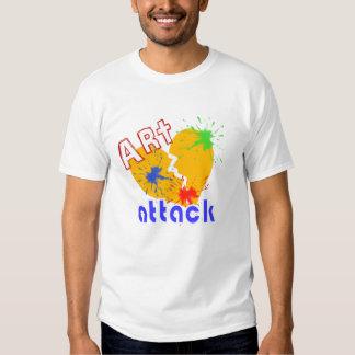 Art heart attack retro tee shirts