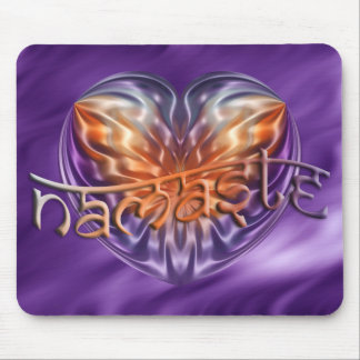 ART Heart NAMASTE | lila waves Mouse Mat