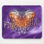 ART Heart NAMASTE | lila waves Mouse Pad