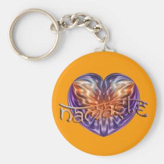 ART Heart NAMASTE   orange Key Ring