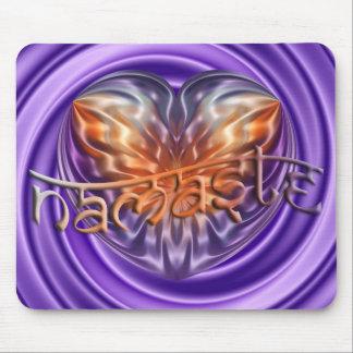 ART Heart NAMASTE | violet swirl Mouse Pad