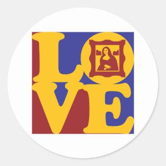 Art History Love Round Sticker