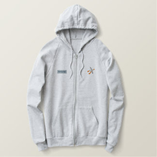 Art Hoodie: Classic Beachy Treats and Seagull Embroidered Hoodie