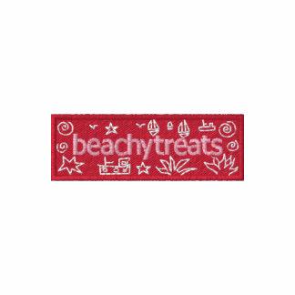 Art Hoodie: Classic Beachy Treats Embroidered Hooded Sweatshirt