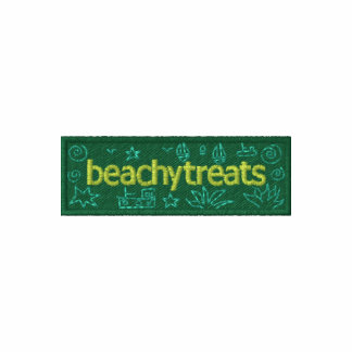 Art Hoodie: Classic Beachy Treats Embroidered Pullover Hoodie