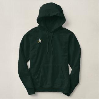 Art Hoodie: John Dyer Seagull. Dark Green Embroidered Hoodie