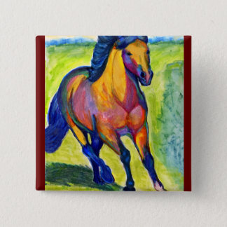 Art Horse 15 Cm Square Badge