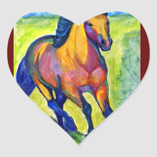 Art Horse Heart Sticker